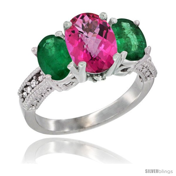 https://www.silverblings.com/42223-thickbox_default/14k-white-gold-ladies-3-stone-oval-natural-pink-topaz-ring-emerald-sides-diamond-accent.jpg
