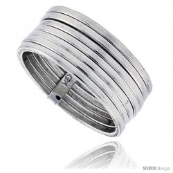 Sterling Silver Semanario 7-Band Ring Handmade 3/8 in wide