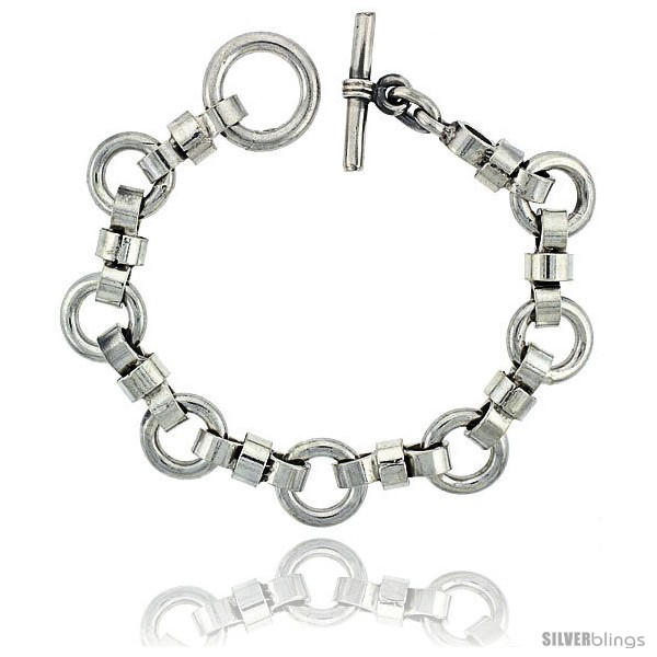https://www.silverblings.com/42291-thickbox_default/sterling-silver-round-links-bracelet-toggle-clasp-handmade-1-2-in-wide.jpg