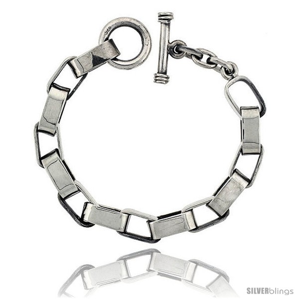 https://www.silverblings.com/42307-thickbox_default/sterling-silver-oval-cut-out-link-bracelet-toggle-clasp-handmade-3-8-in-wide.jpg