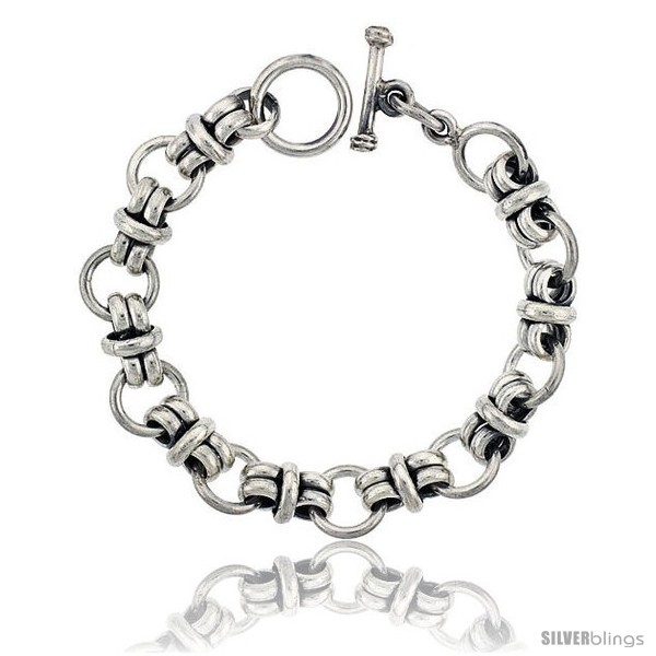 https://www.silverblings.com/42327-thickbox_default/sterling-silver-circles-link-bracelet-toggle-clasp-handmade-1-2-in-wide.jpg