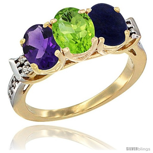https://www.silverblings.com/42383-thickbox_default/10k-yellow-gold-natural-amethyst-peridot-lapis-ring-3-stone-oval-7x5-mm-diamond-accent.jpg