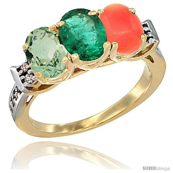https://www.silverblings.com/4246-thickbox_default/10k-yellow-gold-natural-green-amethyst-emerald-coral-ring-3-stone-oval-7x5-mm-diamond-accent.jpg