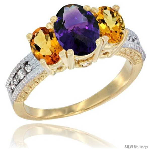 https://www.silverblings.com/42490-thickbox_default/14k-yellow-gold-ladies-oval-natural-amethyst-3-stone-ring-citrine-sides-diamond-accent.jpg