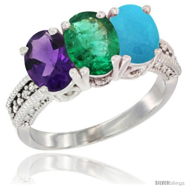 https://www.silverblings.com/42504-thickbox_default/10k-white-gold-natural-amethyst-emerald-turquoise-ring-3-stone-oval-7x5-mm-diamond-accent.jpg