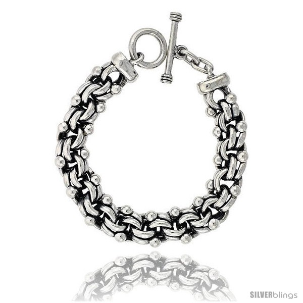 https://www.silverblings.com/42619-thickbox_default/sterling-silver-beaded-garibaldi-links-bracelet-toggle-clasp-handmade-5-8-in-wide.jpg
