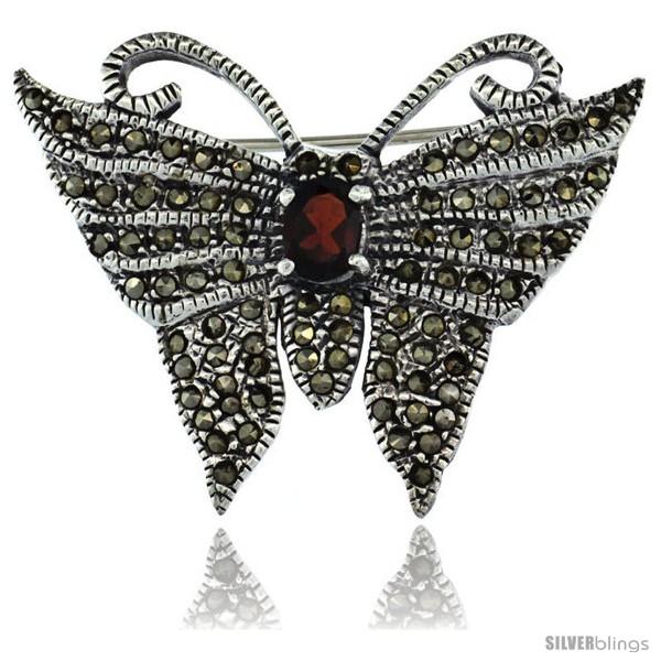 https://www.silverblings.com/42650-thickbox_default/sterling-silver-marcasite-butterfly-brooch-pin-w-oval-cut-garnet-stone-1-1-4-in-32-mm-tall.jpg
