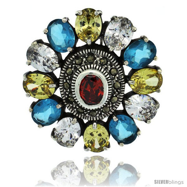 https://www.silverblings.com/42678-thickbox_default/sterling-silver-marcasite-large-flower-brooch-pin-w-oval-cut-multi-color-stones-1-1-2-in-40-mm.jpg