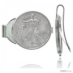 Sterling Silver American Eagle Money Clip Spring Back (1986 - Present) 1 oz. Pure Silver Dollar