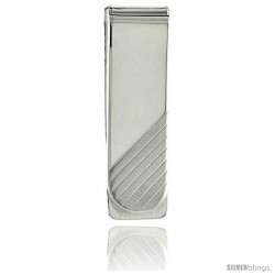 Sterling Silver Money Clip 5/8 in. x 2 in. (15 mm X 51 mm)