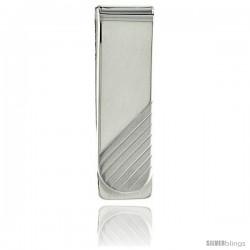 Sterling Silver Money Clip 5/8 in. x 2 in. (15 mm X 51 mm)