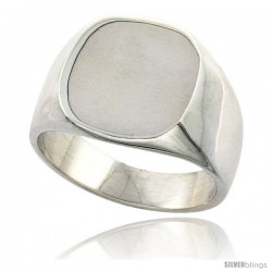 Sterling Silver Oval Signet Ring Solid Back Handmade
