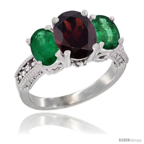 https://www.silverblings.com/42873-thickbox_default/14k-white-gold-ladies-3-stone-oval-natural-garnet-ring-emerald-sides-diamond-accent.jpg