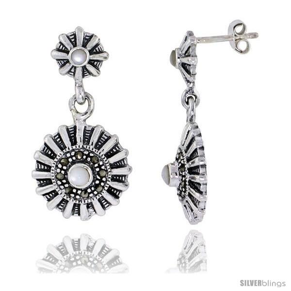 https://www.silverblings.com/42991-thickbox_default/marcasite-earrings-in-sterling-silver-w-mother-of-pearl-1-1-4-32-mm-tall.jpg