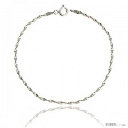 Sterling Silver Twisted Herringbone Chain Necklaces & Bracelets Nickel Free 2mm wide