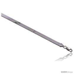 Sterling Silver Italian Magic Herringbone Chain Necklaces & Bracelets 5.5mm Beveled Edges Nickel Free