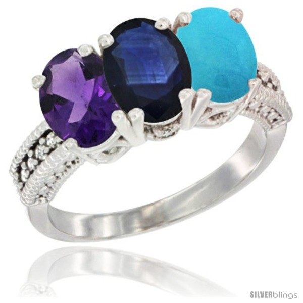 https://www.silverblings.com/43041-thickbox_default/10k-white-gold-natural-amethyst-blue-sapphire-turquoise-ring-3-stone-oval-7x5-mm-diamond-accent.jpg