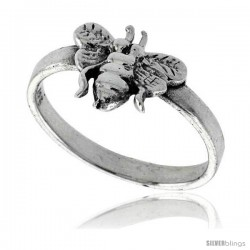 Sterling Silver Bee Ring 3/8 wide
