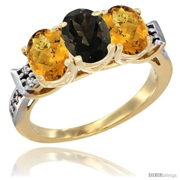 https://www.silverblings.com/43064-thickbox_default/10k-yellow-gold-natural-smoky-topaz-whisky-quartz-sides-ring-3-stone-oval-7x5-mm-diamond-accent.jpg