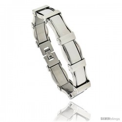 Gent's Stainless Steel Bracelet, 1/2 in wide, 8 1/2 in long -Style Bss102