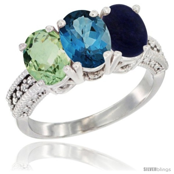 https://www.silverblings.com/4337-thickbox_default/14k-white-gold-natural-green-amethyst-london-blue-topaz-lapis-ring-3-stone-7x5-mm-oval-diamond-accent.jpg