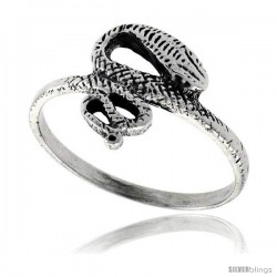 Sterling Silver Snake Ring 5/8 in wide