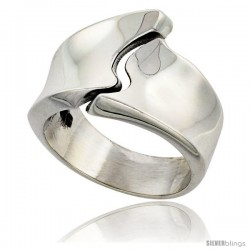 Sterling Silver Male and Female Ring Handmade High Polish 3/4 in wide