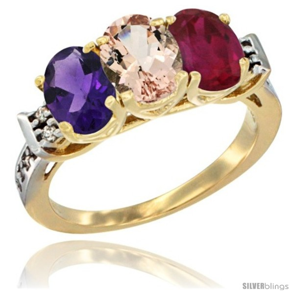 https://www.silverblings.com/43413-thickbox_default/10k-yellow-gold-natural-amethyst-morganite-ruby-ring-3-stone-oval-7x5-mm-diamond-accent.jpg