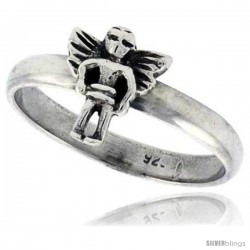 Sterling Silver Angel Ring 3/8 wide