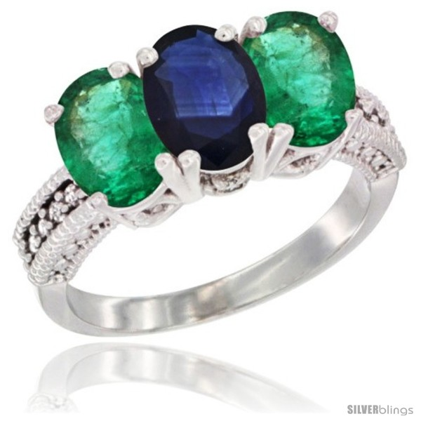 https://www.silverblings.com/43777-thickbox_default/14k-white-gold-natural-blue-sapphire-emerald-sides-ring-3-stone-7x5-mm-oval-diamond-accent.jpg