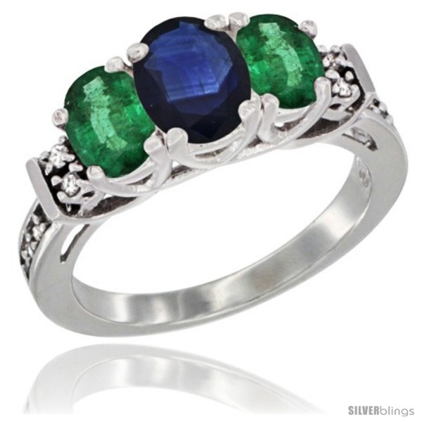 https://www.silverblings.com/43779-thickbox_default/14k-white-gold-natural-blue-sapphire-emerald-ring-3-stone-oval-diamond-accent.jpg