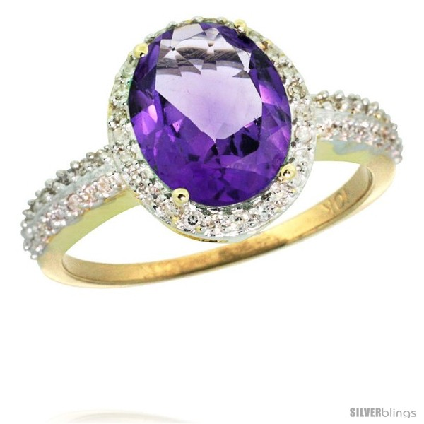 https://www.silverblings.com/43947-thickbox_default/10k-yellow-gold-diamond-amethyst-ring-oval-stone-10x8-mm-2-4-ct-1-2-in-wide.jpg