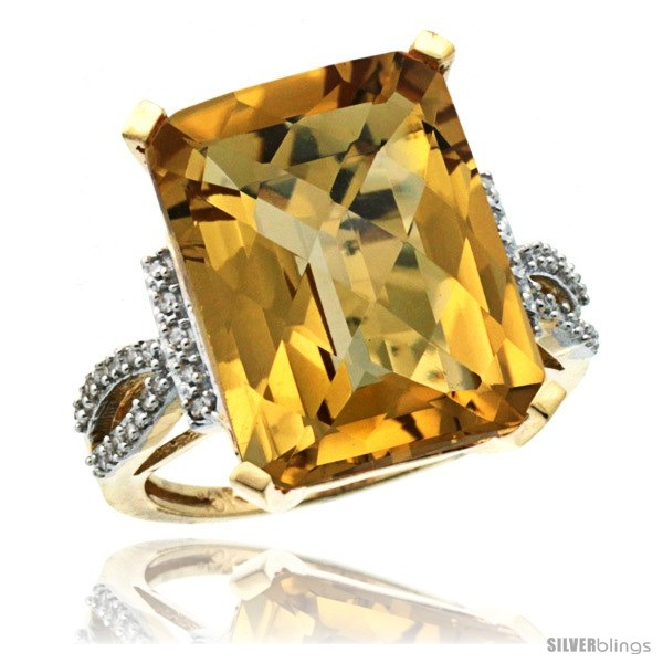 https://www.silverblings.com/44195-thickbox_default/10k-yellow-gold-diamond-whisky-quartz-ring-12-ct-emerald-shape-16x12-stone-3-4-in-wide.jpg