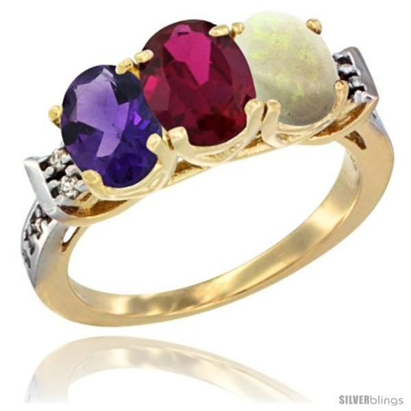 https://www.silverblings.com/44246-thickbox_default/10k-yellow-gold-natural-amethyst-ruby-opal-ring-3-stone-oval-7x5-mm-diamond-accent.jpg