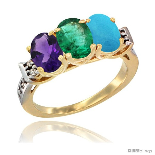https://www.silverblings.com/44693-thickbox_default/10k-yellow-gold-natural-amethyst-emerald-turquoise-ring-3-stone-oval-7x5-mm-diamond-accent.jpg