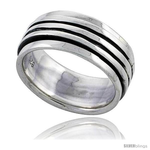 https://www.silverblings.com/44762-thickbox_default/sterling-silver-stripe-design-spinner-ring-3-8-wide.jpg