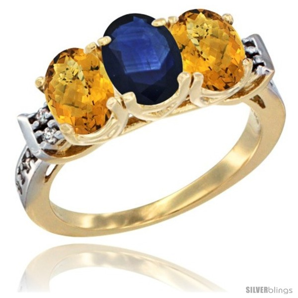 https://www.silverblings.com/44851-thickbox_default/10k-yellow-gold-natural-blue-sapphire-whisky-quartz-sides-ring-3-stone-oval-7x5-mm-diamond-accent.jpg