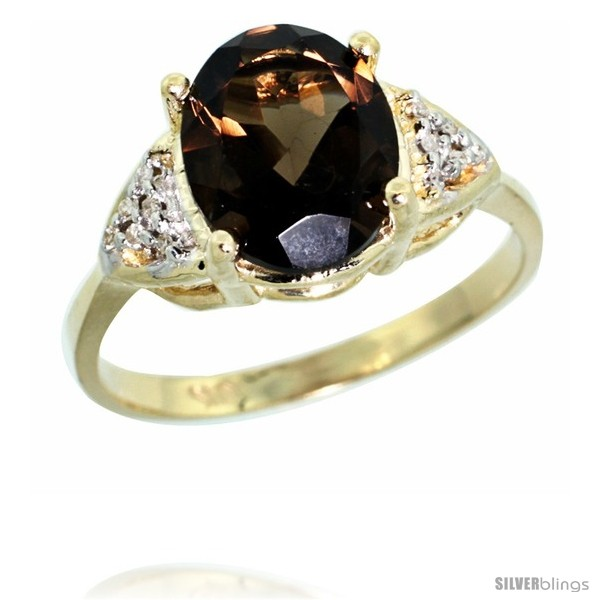https://www.silverblings.com/44909-thickbox_default/10k-yellow-gold-diamond-smoky-topaz-ring-2-40-ct-oval-10x8-stone-3-8-in-wide.jpg