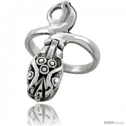Sterling Silver Snake Poison Ring -Style Tr723