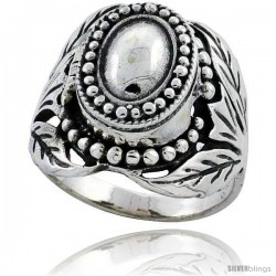 Sterling Silver Floral Vine Poison Ring