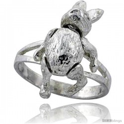 Sterling Silver Movable Rabbit Ring