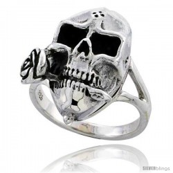 Sterling Silver Skull Poison Ring