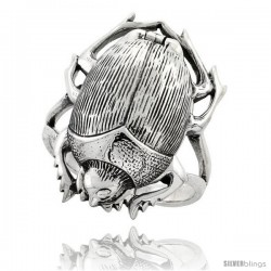 Sterling Silver Scarab Poison Ring
