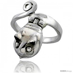 Sterling Silver Snake Poison Ring
