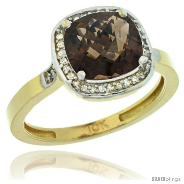 https://www.silverblings.com/45068-thickbox_default/10k-yellow-gold-diamond-smoky-topaz-ring-2-08-ct-checkerboard-cushion-8mm-stone-1-2-08-in-wide.jpg