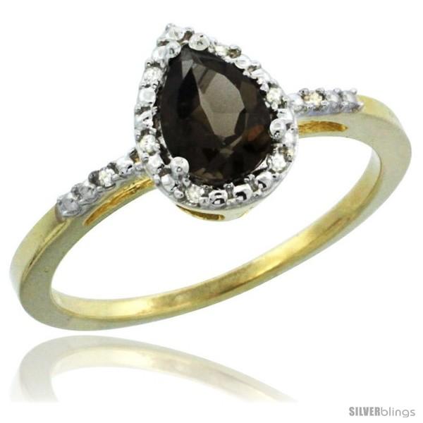 https://www.silverblings.com/45072-thickbox_default/10k-yellow-gold-diamond-smoky-topaz-ring-0-59-ct-tear-drop-7x5-stone-3-8-in-wide.jpg