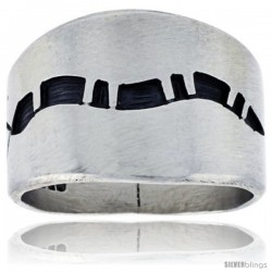 Sterling Silver Native American Design Snake Ring