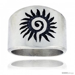 Sterling Silver Native American Design Sun Ring