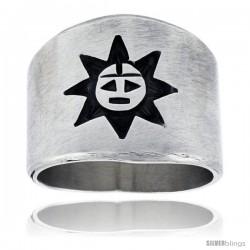 Sterling Silver Native American Design Sun Ring -Style Xrj408