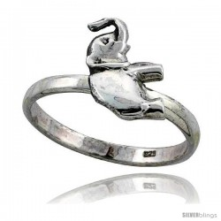 Sterling Silver Movable Elephant Ring